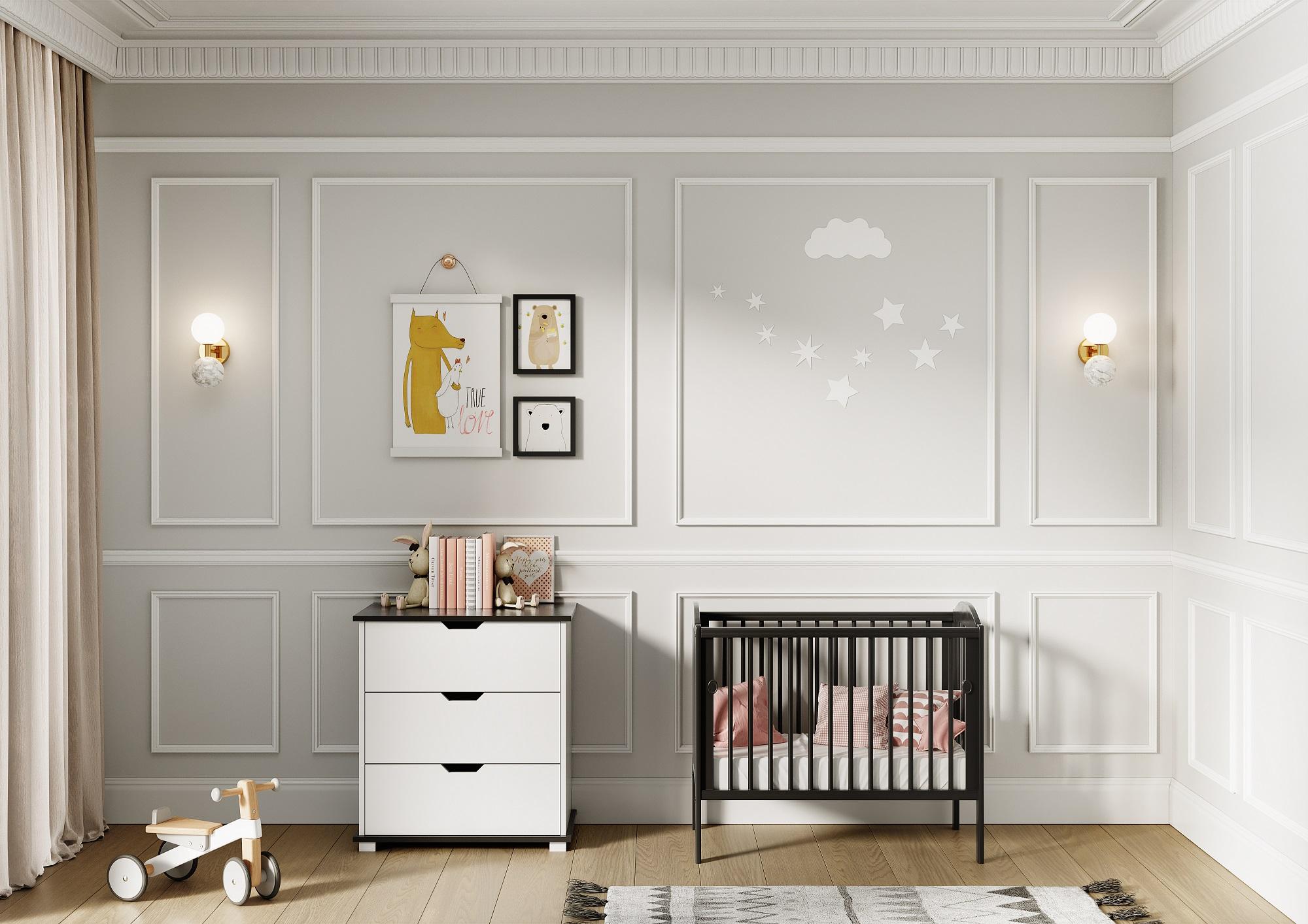 Buy Online Me-Baby Tobie Black Baby Cots