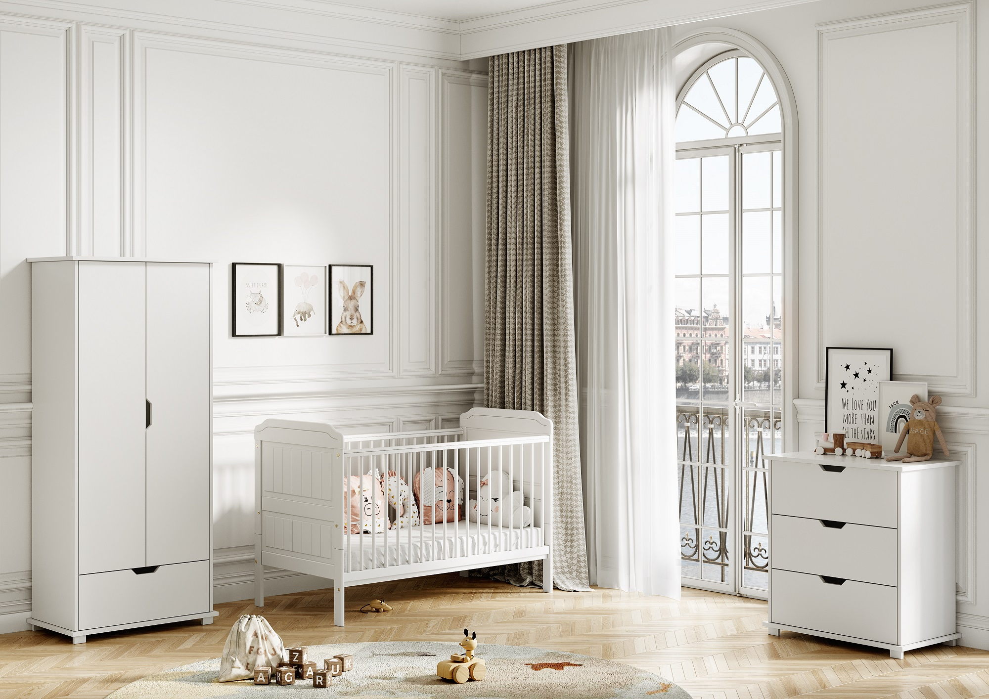 Stanley White Baby Cots Beds