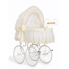 Cream & White Retro Wicker Crib