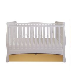 Mason Cot Bed (White & Gold)