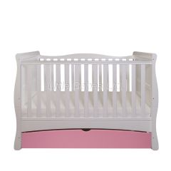 Mason Cot Bed (White & Pink)  - OUT OF STOCK