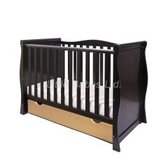 Sleigh Mini Cot Bed (Black & Gold) - OUT OF STOCK