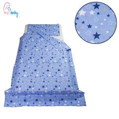 Duvet Set Cover 100x135cm (galaxy blue stars)