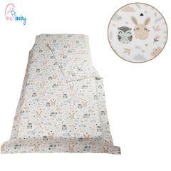 Duvet Set Cover 100x135cm (bunny & owl on white)