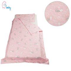 Duvet Set Cover 100x135cm (pink bunnies)