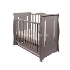 Tia Sleigh Mini Cot (Grey)