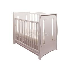 Tia Sleigh  Mini Cot  (White)