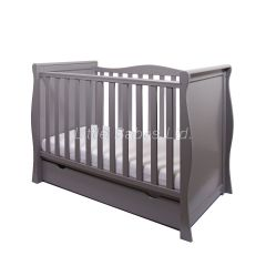 Sleigh Mini Cot Bed (Grey) - OUT OF STOCK
