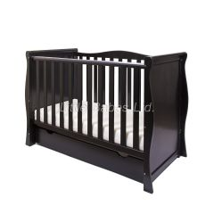 Sleigh Mini Cot Bed (Black) - OUT OF STOCK