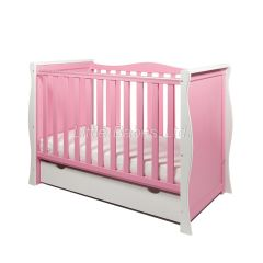 Sleigh Mini Cot Bed (White & Pink) - OUT OF STOCK
