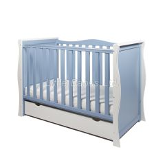 Sleigh Mini Cot Bed (White & Blue) - OUT OF STOCK