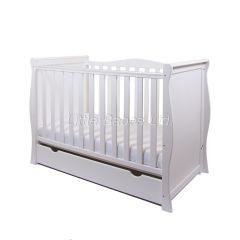 Sleigh Mini Cot Bed (White)