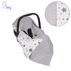 Light Cotton Baby Wrap For Car Seat (grey galaxy grey)