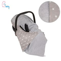 Light Cotton Baby Wrap For Car Seat (grey stars)