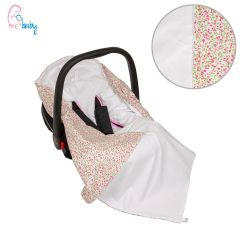 Light Cotton Baby Wrap For Car Seat (little pink flowers)