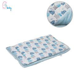 Blanket 75x100cm (blue elephants/blue)
