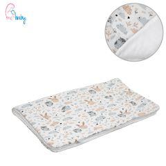 Blanket 75x100cm (white/bunny & owl)