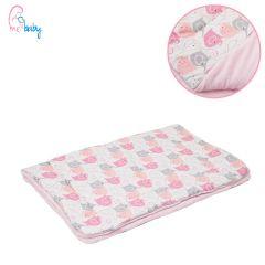 Blanket 75x100cm (pink elephants/pink)