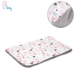 Blanket 75x100cm (grey/love hearts)