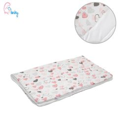 Blanket 75x100cm (white/love hearts)
