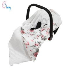 Baby Wrap For Car Seat (white/dream catcher)