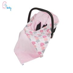 Baby Wrap For Car Seat (pink/new pink elephants)