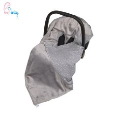 Baby Wrap For Car Seat (grey/baby stars)