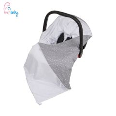 Baby Wrap For Car Seat (white/baby stars)