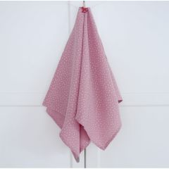 Lightweight Cotton Muslin Blanket  (powder pink & white)