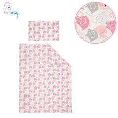 Duvet Set Cover 100x135cm (pink elephants)