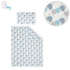 Duvet Set Cover 100x135cm (blue elephants)